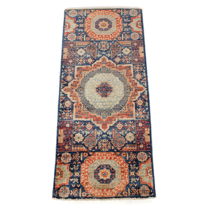 2'1 x 5'0 Hand-Knotted Afghani Persian Tabriz Runner, 2010s