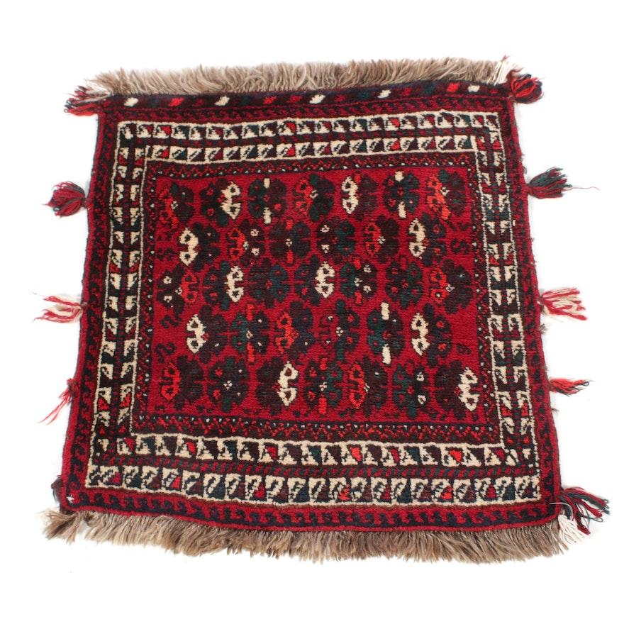 2'4 x 2'10 Hand-Knotted Persian Qashqai Shiraz Rug, 1930s