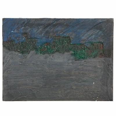 Robert Geno Centofanti Abstract Mixed Media Painting, Late 20th Century