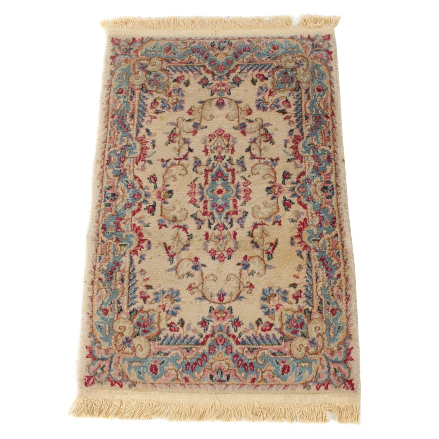 1'11 x 3'3 Hand-Knotted Persian Lavar Kerman Rug, 1960s