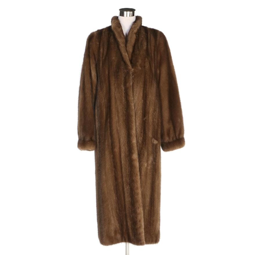 Mink Fur Coat with Banded Cuffs, Vintage