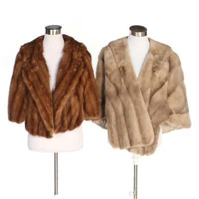 Marten Fur Capelet and Mink Fur Stole