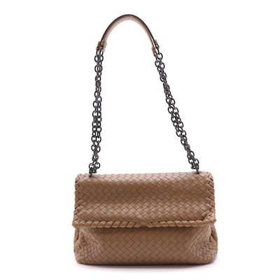 Bottega Veneta Medium Olimpia Bag in Intrecciato Woven Nappa Leather