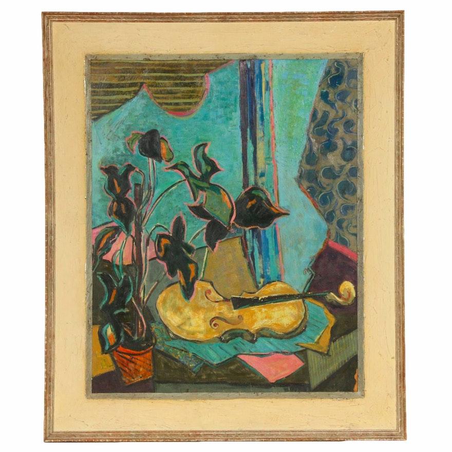 Mid-20th Century Still Life Oil Painting