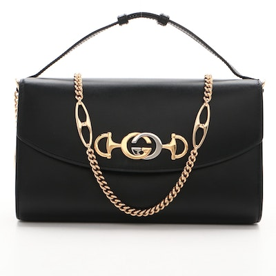 Gucci Black Leather Small Zumi Shoulder Bag