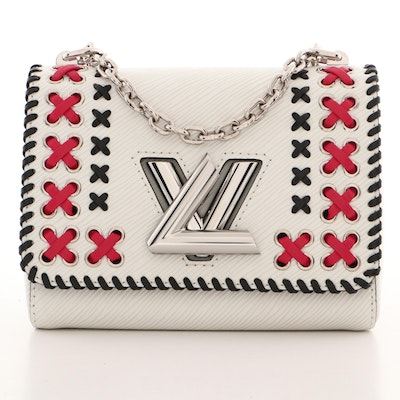 Louis Vuitton White Epi Leather Whipstitch Twist PM