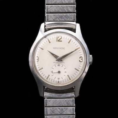 Herschede Yachtsman By Croton Stainless Steel Wristwatch, Circa 1960's