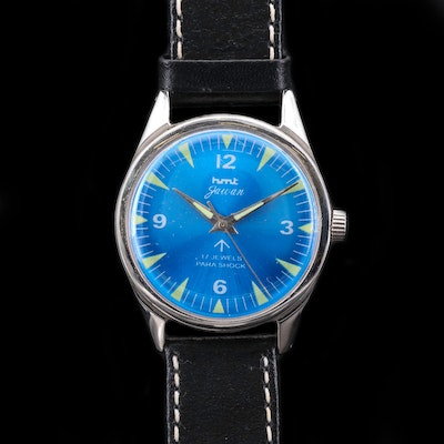 Vintage HMT Jawan Stainless Steel Wristwatch