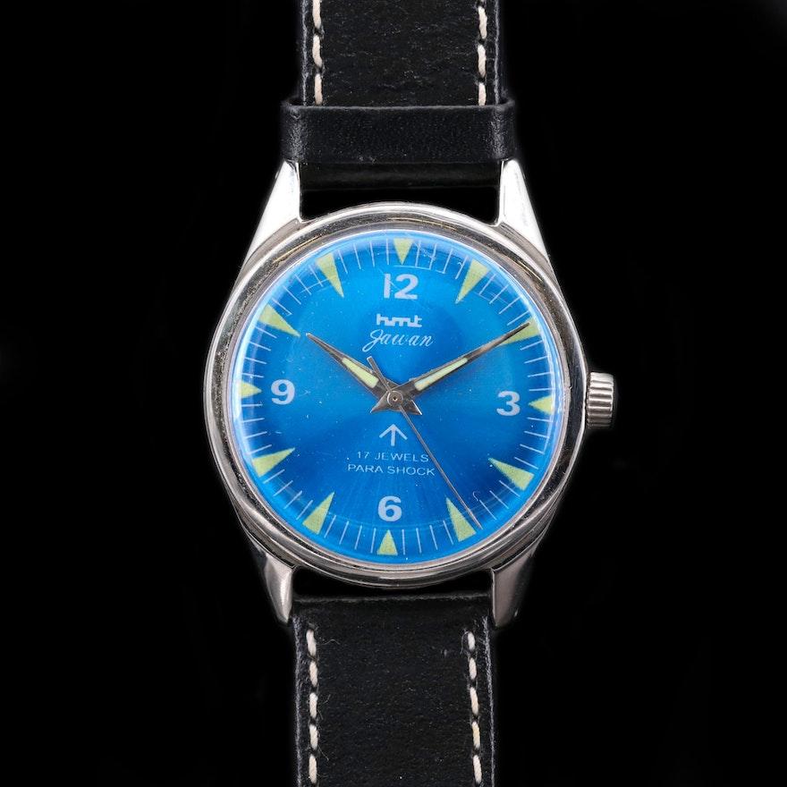 Vintage HMT Jawan Stainless Steel Wristwatch