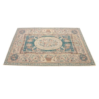 5'9 x 8'8 Hand-Knotted French Style Needlepoint Rug, 2000s