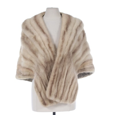 Tourmaline Mink Fur Stole from Jack Slade Furs of Chicago, Vintage