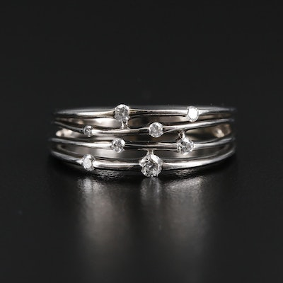 10K Gold Diamond Openwork Band
