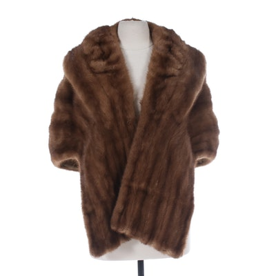 Brown Mink Fur Stole from Jack Slade Furs of Chicago, Vintage