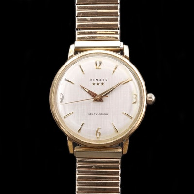 Vintage Benrus Gold Tone Automatic Wristwatch