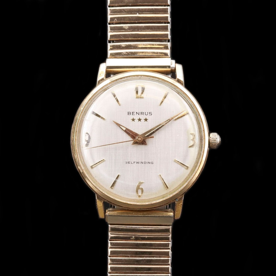 Vintage Benrus Gold Tone Automatic Wristwatch