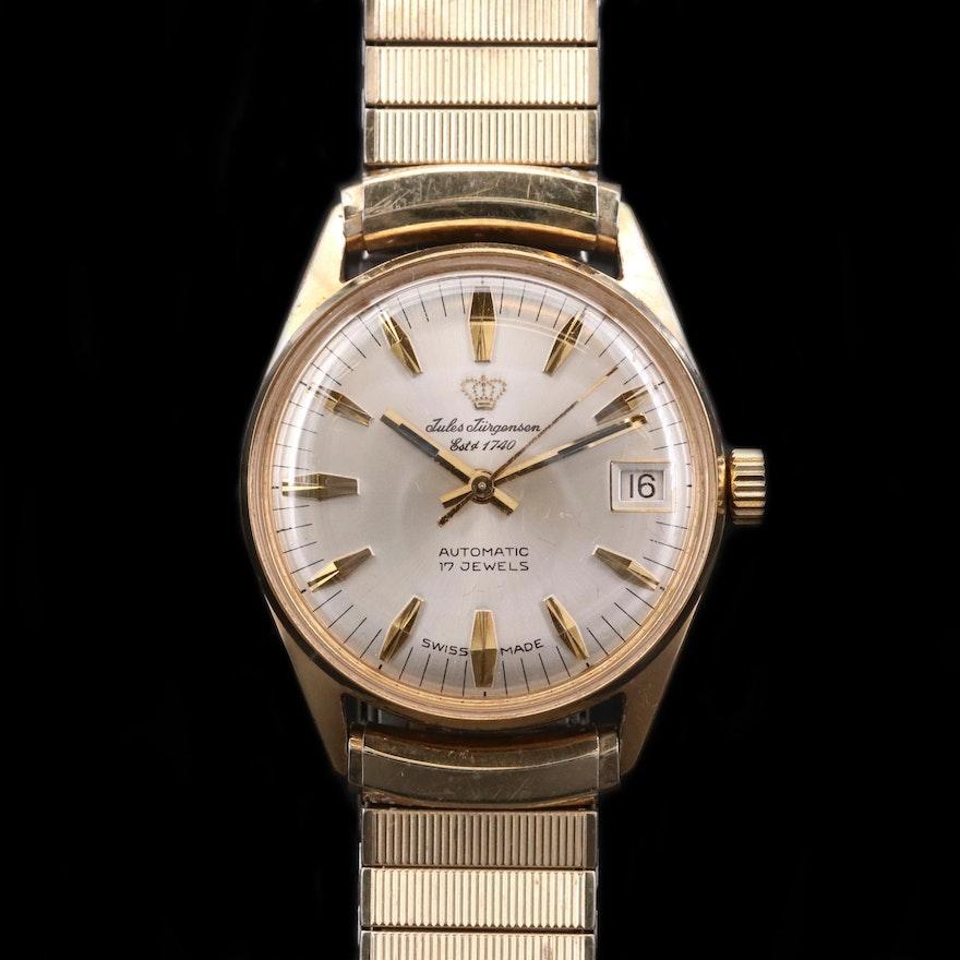 Vintage Jules Jurgensen Gold Tone Automatic Wristwatch