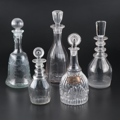Hand Blown Decanters, Late 19th/ Early 20th Century