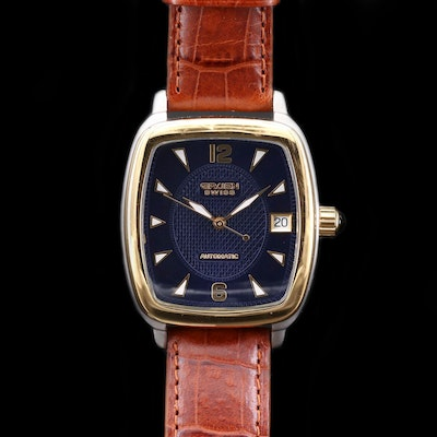 Gruen Swiss Two Tone Stainless Steel Automatic Wristwatch With Date