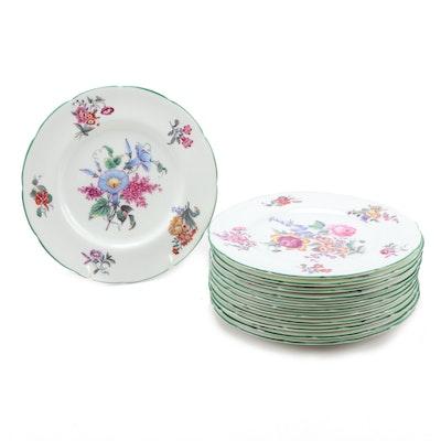 "Set of Twelve Coalport ""Old Coalport Period 1825"" Porcelain Plates"