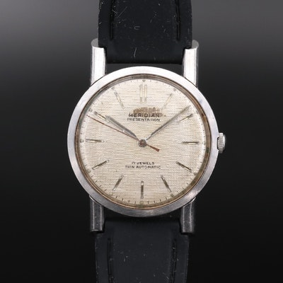 Vintage Meridian Presentation Stainless Steel Automatic Wristwatch