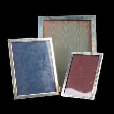 Sterling Silver Picture Frames Including Graff, Washbourne & Dunn and Lunt