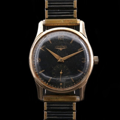 Vintage Longines 10K Gold Filled Stem Wind Wristwatch, 1952