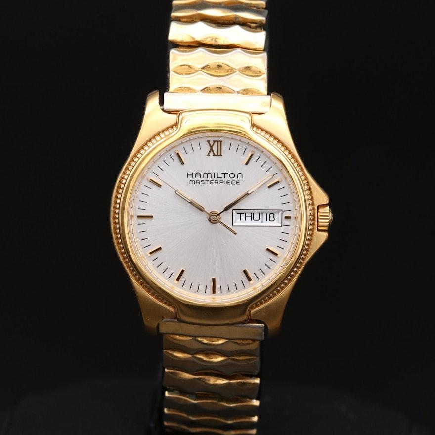 Vintage Hamilton Masterpiece Quartz Wristwatch With Day/Date
