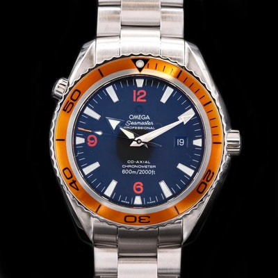 Omega Seamaster Planet Ocean 600M Co-Axial 45.5 Stainless Steel Wristwatch