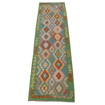 2'9 x 9'10 Hand-Knotted Turkish Caucasian Runner, 2010s