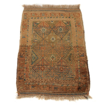 2'3 x 3'5 Hand-Knotted Turkish Oushak Rug, 1920s