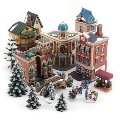 """Department 56 """"Christmas in The City"""" Porcelain Lighted Village"""
