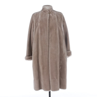 Best & Co. New York Borgana Faux Fur Coat with Turned Back Cuffs