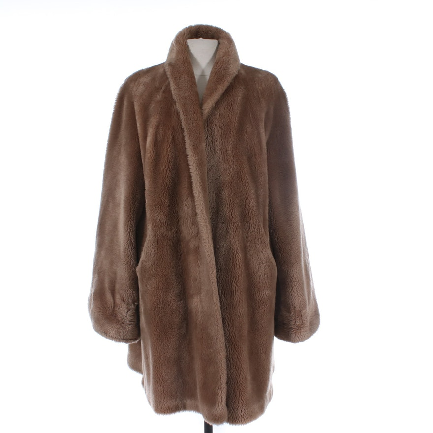 O'Neil's Borgana Faux Fur Coat, Vintage
