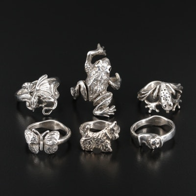 Sterling Silver Animal Motif Rings