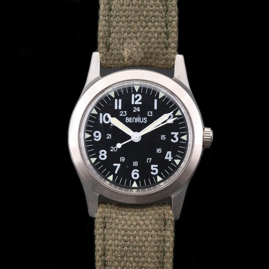 Benrus WWII Commemorative Re - Issue Stainless Steel Wristwatch