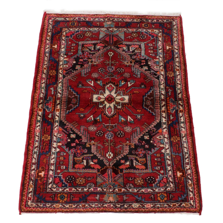 3'8 x 5'1 Hand-Knotted Northwest Persian Rug, 1970s