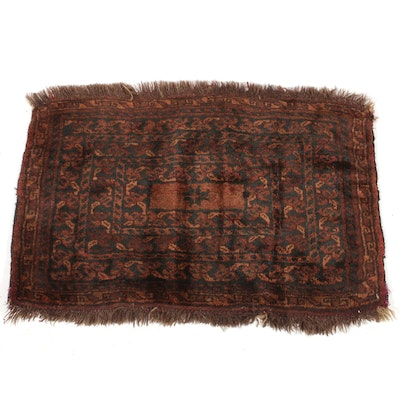 1'10 x 2'7 Hand-Knotted Persian Baluch Rug, 1920s