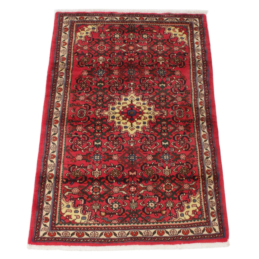 3'5 x 5'3 Hand-Knotted Persian Bibikabad Rug, 1970s
