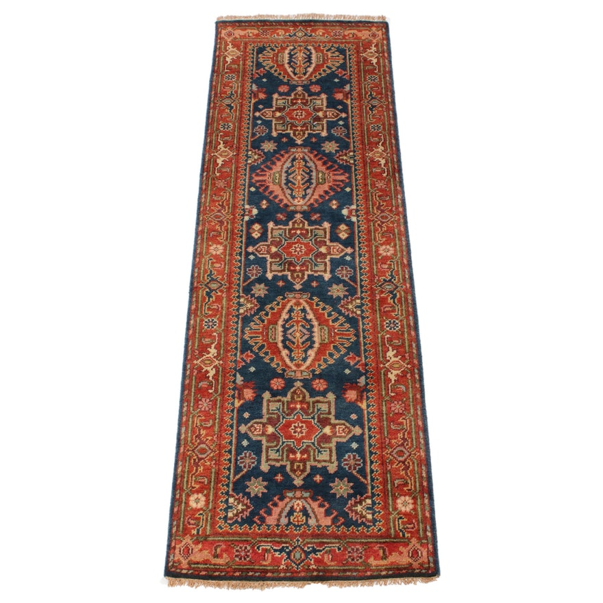 2'7 x 8'1 Hand-Knotted Indo-Persian Tabriz Runner, 2010s