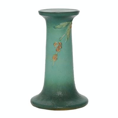 """Roseville Pottery """"Bittersweet"""" Earthenware Jardinière Pedestal"""