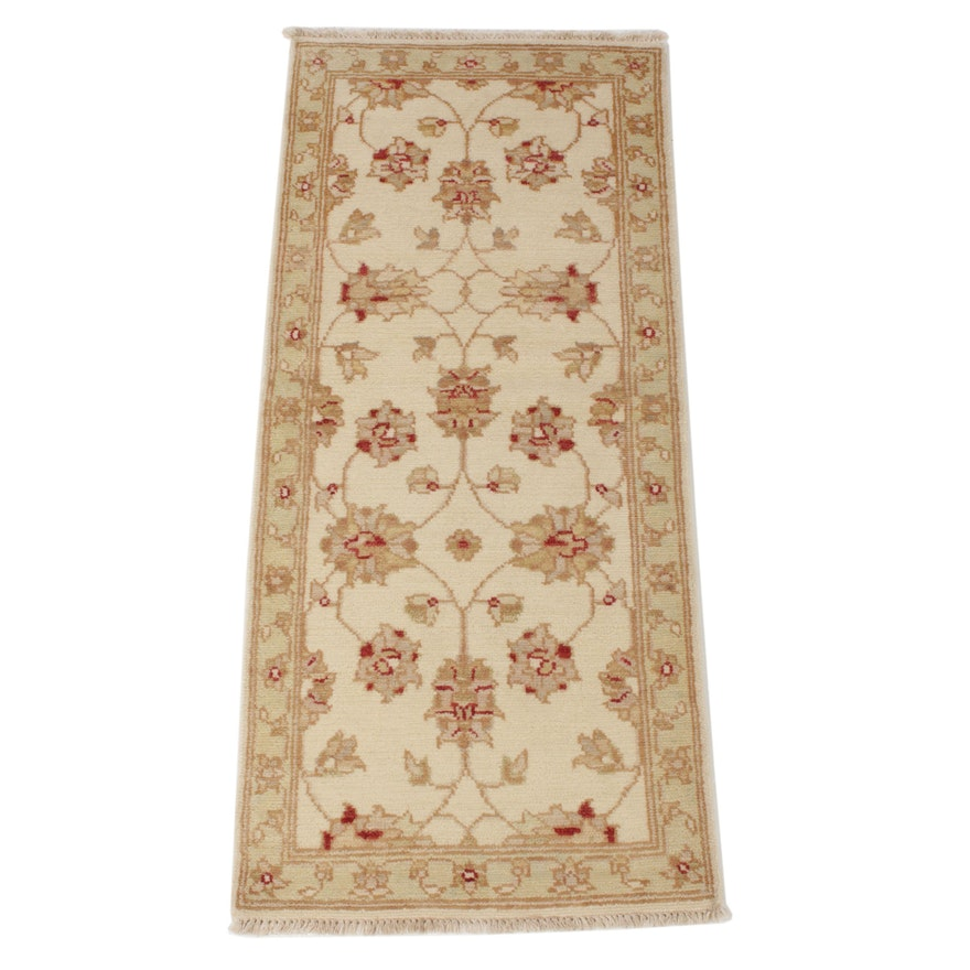 2'4 x 5'5 Hand-Knotted Indo-Turkish Oushak Runner, 2010s