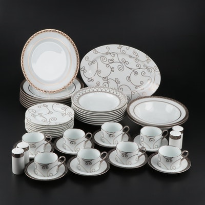 """Vicente Wolfe """"Sevilla"""" Porcelain Dinnerware for Eight by LS Collection"""