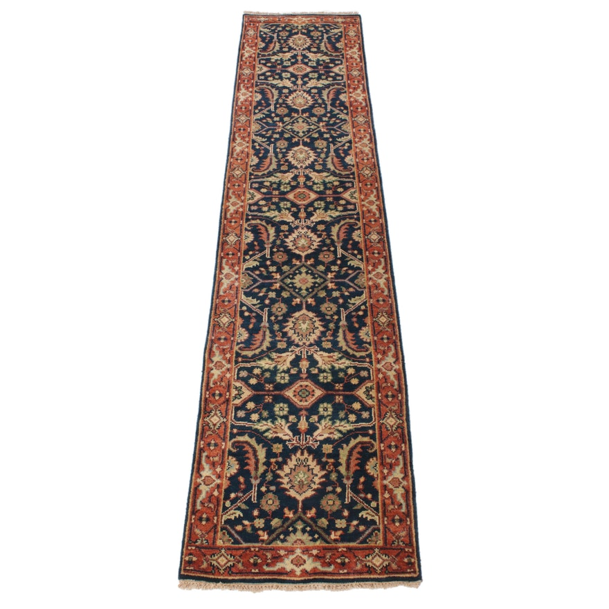 2'7 x 12'0 Hand-Knotted Indo-Persian Tabriz Runner, 2010s