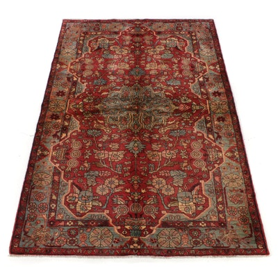 5'4 x 8'1 Hand-Knotted Persian Malayer Pictorial Rug, 1970s