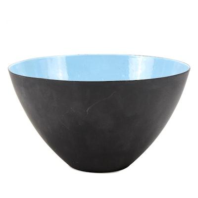 Krenit Denmark Enamel Centerpiece Bowl, Mid-20th Century