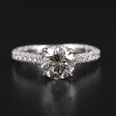 Henry Daussi 14K Gold 2.62 CTW Diamond Ring