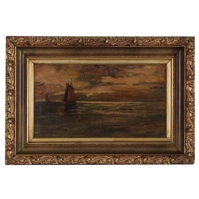 Maritime Scene Oil Painting, 1907