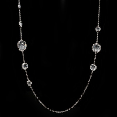 Ippolita Sterling Silver Rock Crystal Quartz Station Necklace