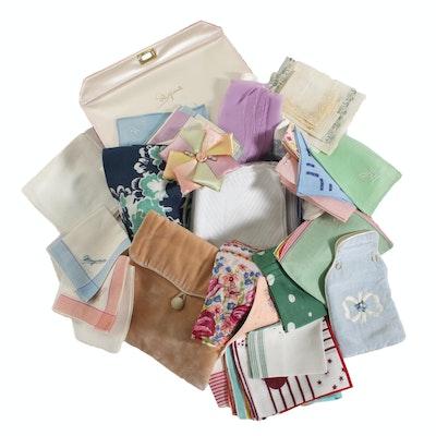 Schiaparelli Garment Box with Printed Hankies and Scarves, Vintage