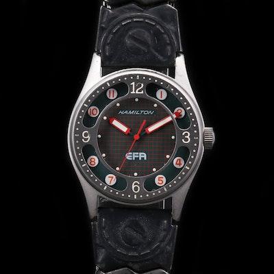 Vintage Hamilton EFA Stainless Steel Quartz Wristwatch